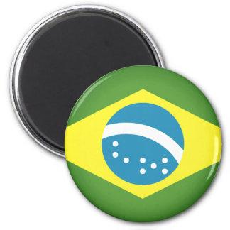 Flagge von Brasilien Runder Magnet 5,7 Cm