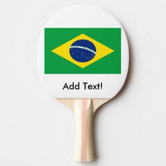Flagge von Brasilien Tischtennis Schläger