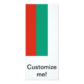 Flagge von Bulgarien 10,2 X 23,5 Cm Einladungskarte