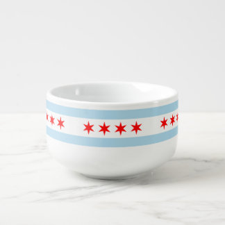 Flagge von Chicago, Illinois Große Suppentasse