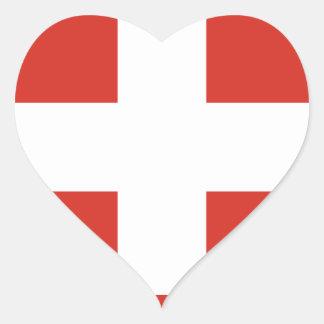 Flagge von der Schweiz - die Nationalflagge der Herz-Aufkleber