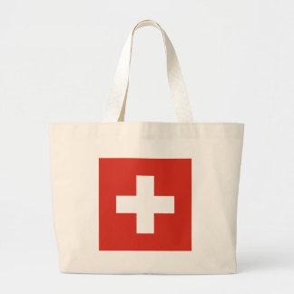 Flagge von der Schweiz die Nationalflagge der Jumbo Stoffbeutel