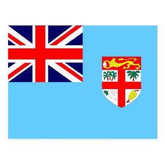 Flagge von Fidschi-Insel Postkarte