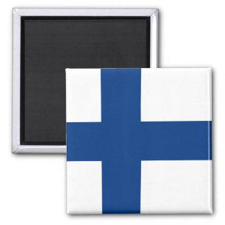 Flagge von Finnland-Magneten Quadratischer Magnet