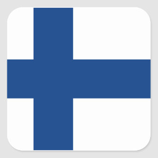 Flagge von Finnland Quadratischer Aufkleber