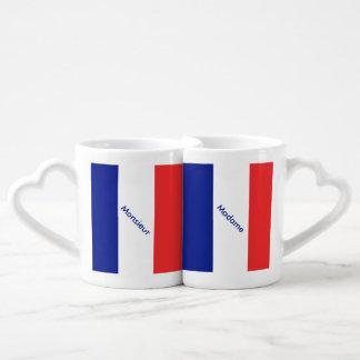 Flagge von Frankreich-Franzosen Tricolore Liebestassen