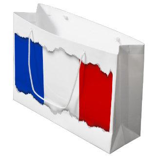 Flagge von Frankreich Große Geschenktüte