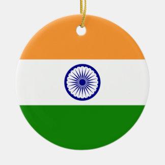 Flagge von Indien. Bharat Ganrajya Rundes Keramik Ornament