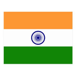 Flagge von Indien-Postkarte Postkarte