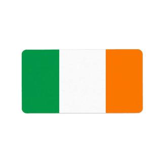 Flagge von Irland-Aufklebern Adressaufkleber