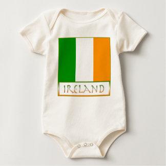 Flagge von Irland Baby Strampler