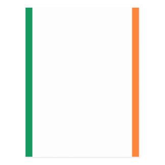Flagge von Irland (bratach Na hÉireann) Postkarte
