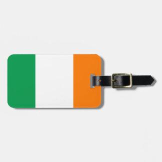 Flagge von Irland-Gepäckanhänger mit Lederband Kofferanhänger
