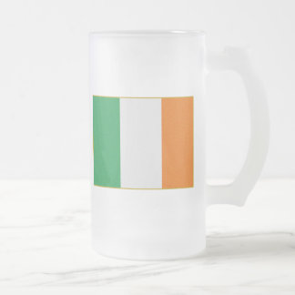 Flagge von Irland Mattglas Bierglas