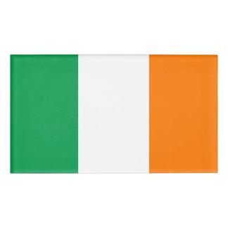 Flagge von Irland Namenschild