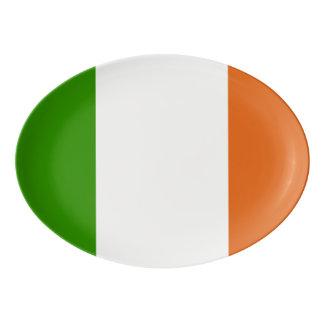 Flagge von Irland-Oval Porzellan Servierplatte