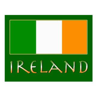 Flagge von Irland Postkarte