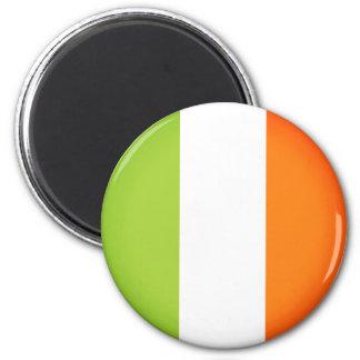 Flagge von Irland Runder Magnet 5,7 Cm