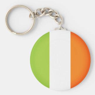 Flagge von Irland Standard Runder Schlüsselanhänger