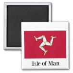 Flagge von Isle of Man Quadratischer Magnet