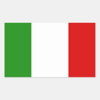 Flagge von Italien Rechteckiger Aufkleber