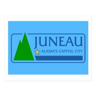 Flagge von Juneau, Alaska Postkarte