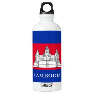 Flagge von Kambodscha Aluminiumwasserflasche