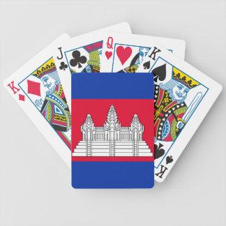 Flagge von Kambodscha Bicycle Spielkarten