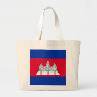 Flagge von Kambodscha Jumbo Stoffbeutel