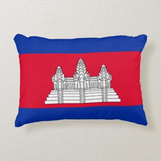 Flagge von Kambodscha Zierkissen