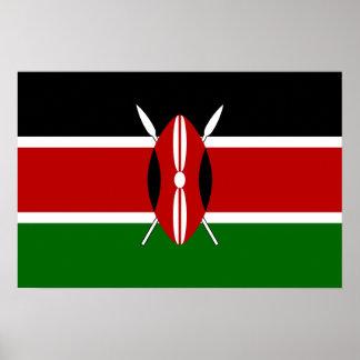 Flagge von Kenia Poster