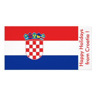 Flagge von Kroatien, frohe Feiertage von Kroatien Karte