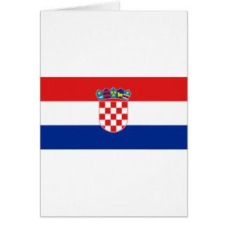 Flagge von Kroatien Karte