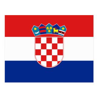 Flagge von Kroatien Postkarte
