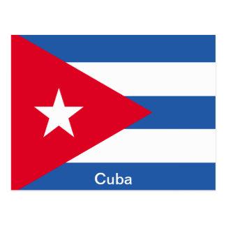 Flagge von Kuba Postkarte