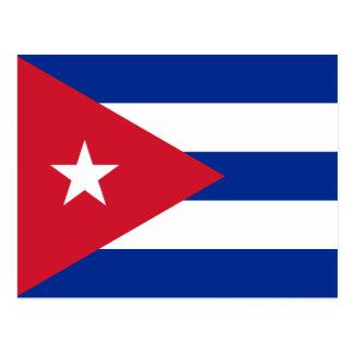 Flagge von Kuba-Postkarte Postkarte