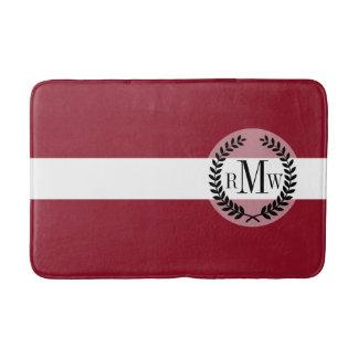 Flagge von Lettland Badematte