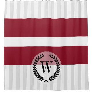 Flagge von Lettland Duschvorhang