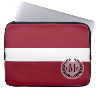 Flagge von Lettland Laptopschutzhülle
