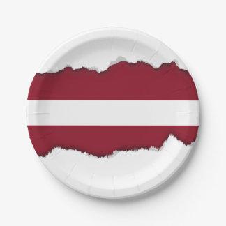 Flagge von Lettland Pappteller