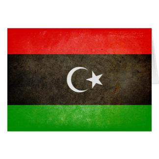 Flagge von Libyen Karte