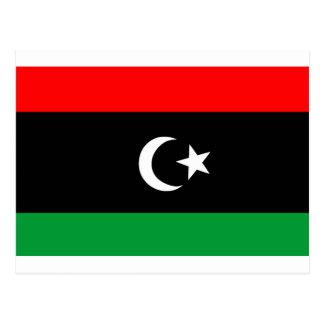 Flagge von Libyen Postkarte