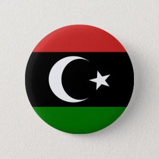 Flagge von Libyen pre-1977 Runder Button 5,1 Cm
