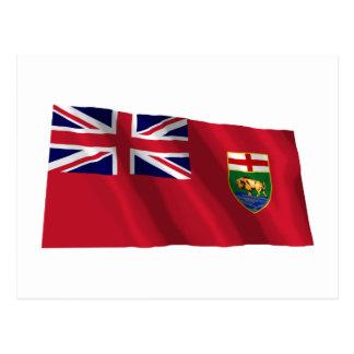 Flagge von Manitoba, Kanada Postkarte