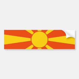 Flagge von Mazedonien Autoaufkleber