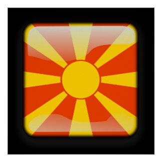 Flagge von Mazedonien Poster