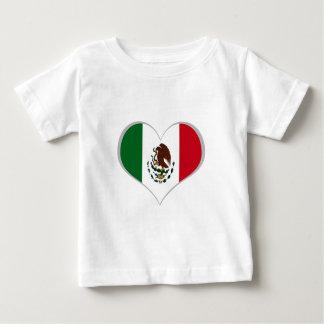 Flagge von Mexiko Baby T-shirt