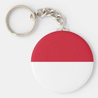 Flagge von Monaco- - Drapeaude Monaco Schlüsselanhänger
