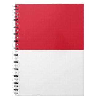 Flagge von Monaco- - Drapeaude Monaco Spiral Notizblock