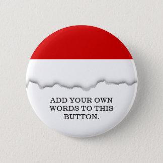 Flagge von Monaco Runder Button 5,7 Cm